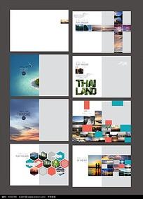 简约 在路上 宣传画册模板psd设计