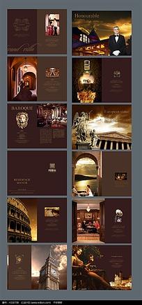 欧式房地产公司宣传画册psd设计