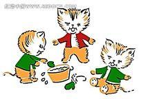三只小猫PSD素材