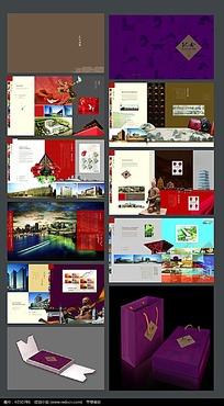 中国风集团宣传册带包装psd设计