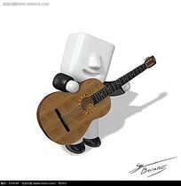 弹吉他海报PSD素材