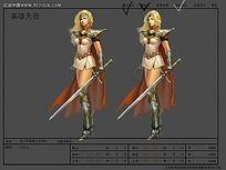 造型女战士游戏素材