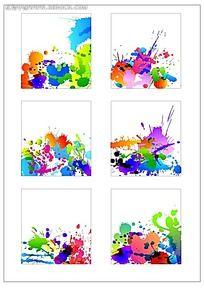 炫彩水墨矢量图