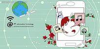 卡通手机通讯PSD素材