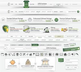 立体网页元素绿色