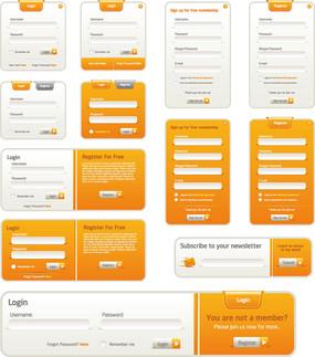 网页登入界面网页元素设计