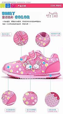 儿童运动鞋网页展示