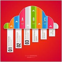 乌云下雨形图标设计矢量素材