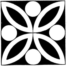 幾何黑白花卉圖案設計