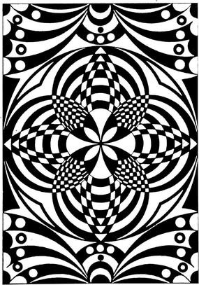 幾何圖案花邊素材