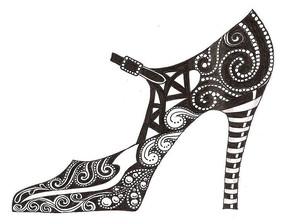 鞋子创意图案