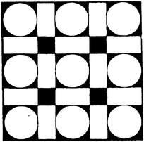 圆形与长方形构成循环对称图案