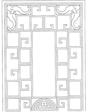 简约木框木雕参考图