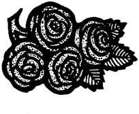 玫瑰印花图案