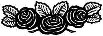 三朵玫瑰印花图案