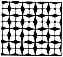 四瓣菱形简单黑白花纹图片素材