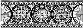 對稱圓形花紋鏤空圖案素材