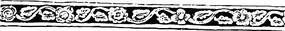 橫行藤狀花朵樹葉花紋鏤空圖案