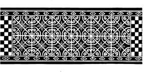 中式風格卷狀花紋鏤空圖案