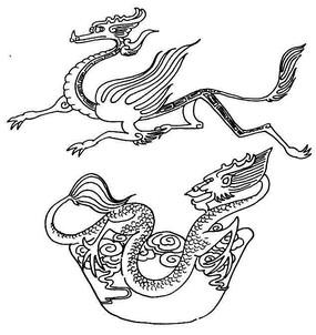 传统白描龙纹