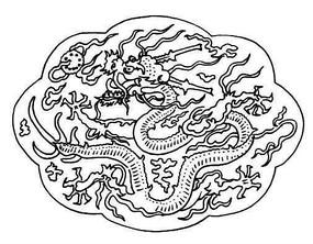 古典装饰白描龙纹
