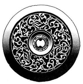 圆形装饰植物花纹