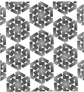黑白幾何組合花紋