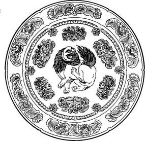 中国风经典图案圆形矢量图