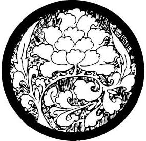 白描牡丹花团