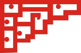 红色界面木雕镂空图案