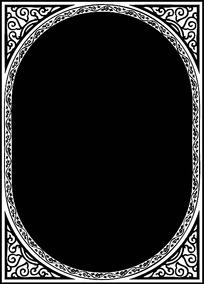 圆角方形边框花纹
