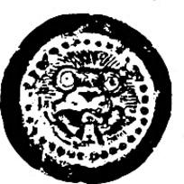 圆形斑驳狼头花纹
