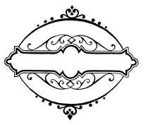 欧式优雅椭圆边框