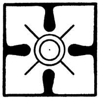 外方内圆对称装饰花纹图案