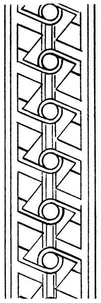 左右对称圆形线条镂空花纹