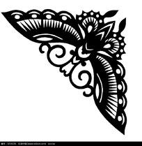 蝴蝶剪纸图案