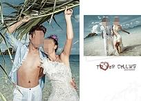 海边度假风海报设计
