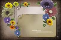花纹花边信纸模板图片
