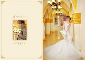 金色婚礼邀请函模板设计