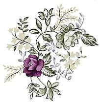 典雅紫色印花素材