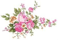 粉色甜美花朵印花素材
