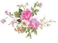 精美鲜花印花素材