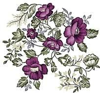 精致典雅紫色印花素材