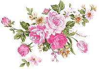 盛开花朵印花素材