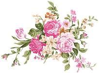 甜美花朵印花素材