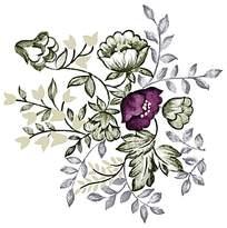 紫色精美印花素材