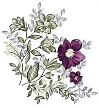 紫色精致印花素材