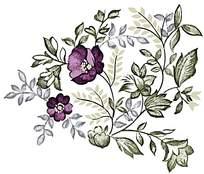 紫色气质精美印花素材