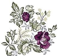 紫色气质印花素材