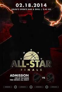 全明星篮球海报设计